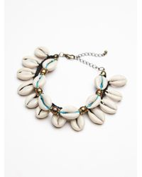 Free People | White Avoca Shell Anklet | Lyst