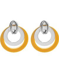 Marni | Metallic Circular Horn Earrings | Lyst