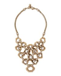 Lulu Frost | Metallic Narcissus Crystal Bib Necklace | Lyst
