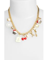 kate spade new york | Multicolor Charm Necklace - Multi | Lyst