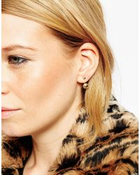ASOS | Metallic Simple Swing & Stud Earrings | Lyst