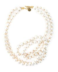 Stella McCartney | Metallic Pearl Necklace | Lyst