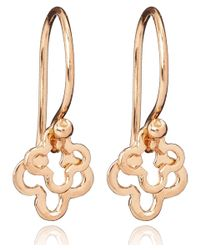 Dinny Hall | Metallic Small Rose Gold Vermeil Talitha Earrings | Lyst