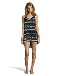 Vitamin A - Black And Grey Patterned 'rocha' Slip Dress - Lyst