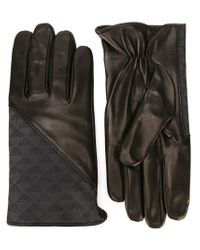 Emporio Armani - Black Logo Panel Gloves for Men - Lyst