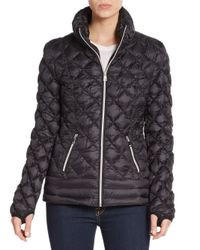 Saks Fifth Avenue | Black Diamond Quilted Down Jacket | Lyst