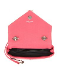 Saint Laurent - Pink Classic Monogram Baby Shoulder Bag - Lyst