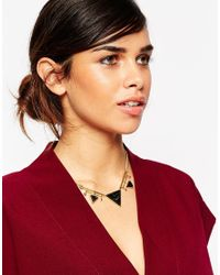 ASOS - Black Triangle Necklace - Lyst
