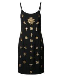 Alberta Ferretti - Metallic Jeweled Dress - Lyst