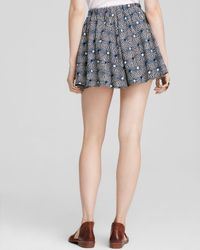 Free People - Black Skort - So Much Sun - Lyst