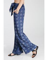 Forever 21 - Blue Mandala Print Palazzo Pants - Lyst