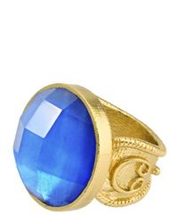 Stephanie Kantis | Round Blue Quartz Adjustable Ring | Lyst