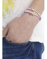McQ | Pink Razor Leather Wrap Bracelet | Lyst