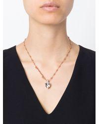 Mawi | Metallic Diamonds Word Heart Pendant Necklace | Lyst