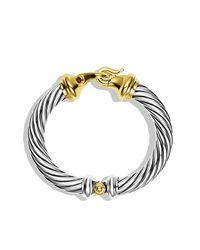 David Yurman - Metallic Cable Classic Bracelet With Gold, 10Mm - Lyst