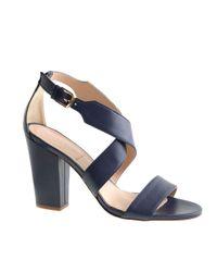 J.Crew | Blue Callie Highheel Sandals | Lyst