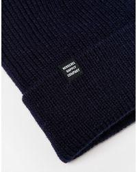 Herschel Supply Co. - Blue Selkirk Beanie for Men - Lyst