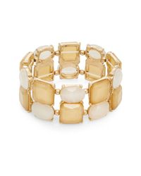 Lydell NYC - Natural Glowing Stretch Bracelet - Lyst