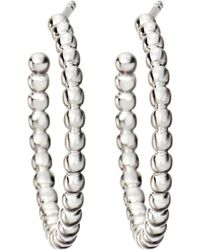 Astley Clarke | Metallic Beaded Sterling Silver Hoop Earrings | Lyst