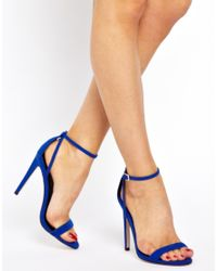 ASOS - Blue Hampstead Heeled Sandals - Lyst