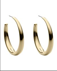 Michael Kors | Gray Hoop Earrings | Lyst