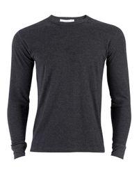 Sunspel | Gray Men's Long Sleeve Thermal T-shirt for Men | Lyst