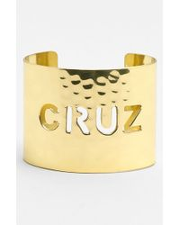 Rustic Cuff - Metallic Wide Personalized Cuff - Lyst