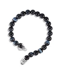 David Yurman - Blue Spiritual Beads Bracelet with Banded Agate for Men - Lyst