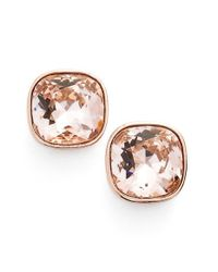 Givenchy - Metallic Crystal Stud Earrings - Lyst