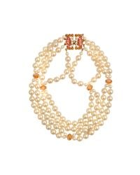 Helene Zubeldia | Metallic Glass Pearl Timeless Necklace | Lyst