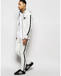 Good For Nothing - Gray Zip Up Hoodie for Men - Lyst