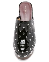 Marc By Marc Jacobs | Black Dylan Nail Head Clogs | Lyst