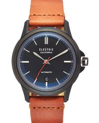 Electric - Black 'carroway' Leather Strap Watch - Lyst