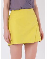 Giuliana Romanno | Yellow Wrap Skort | Lyst