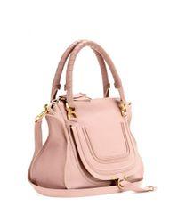 Chloé - Pink Marcie Medium Leather Shoulder Bag - Lyst