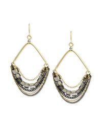 Kenneth Cole - Metallic New York Goldtone Bead and Chain Chandelier Earrings - Lyst