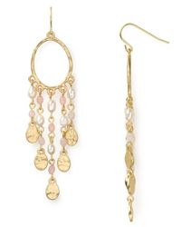 Lauren by Ralph Lauren | Pink Lunada Bay Medium Beaded Hoop Earrings | Lyst