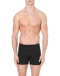 Hanro | Black Superior Short-leg Trunks for Men | Lyst