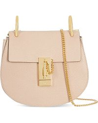 Chloé | Natural Drew Mini Leather Cross-body Bag | Lyst