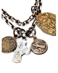 M Cohen | Metallic Beaded Charm Necklace for Men | Lyst