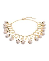 Lele Sadoughi | Yellow Blooming Bud Statement Necklace for Men | Lyst