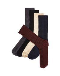 River Island - Black Neutral Herringbone Socks Pack for Men - Lyst
