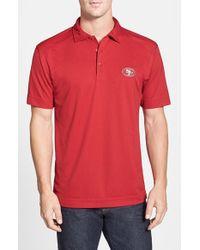 Cutter & Buck - Red 'san Francisco 49ers - Genre' Drytec Moisture Wicking Polo for Men - Lyst