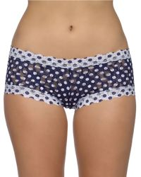 Hanky Panky | Blue Dots And Spots Boyshorts | Lyst