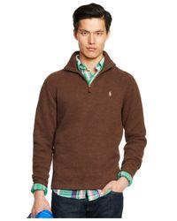 Polo Ralph Lauren   Brown French-rib Half-zip Pullover for Men   Lyst