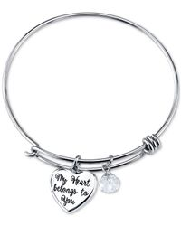 Disney | Metallic Mickey Mouse Crystal Charm Bracelet In Stainless Steel | Lyst