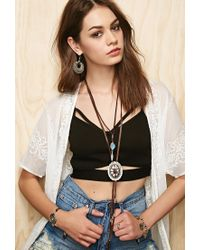 Forever 21 - Brown Soulmakes Outlaw Necklace - Lyst
