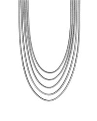 Vince Camuto | Metallic Opposites Attract Silvertone Multi-chain Necklace | Lyst
