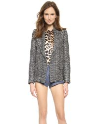 Rodarte | Gray Metallic Tweed Jacket Metallic | Lyst