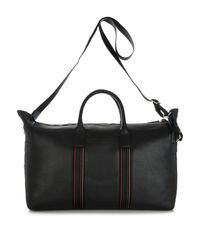 Paul Smith - Black City Webbing Leather Weekend Bag for Men - Lyst